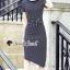 Seoul Secret Say's... Chic Lacely Rear Stripy Dress thumbnail 4