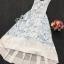Sevy PP Blue Printed Sleeveless Sexy Back Maxi Dress thumbnail 7