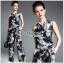 🎀 Lady Ribbon's Made 🎀Lady Matina Spotted Printed Ribbon Jumpsuit thumbnail 2