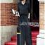&#x1F380 Lady Ribbon's Made &#x1F380 Lady Elise Minimal Black Cotton Maxi Shirt Dress thumbnail 2