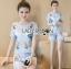 &#x1F380 Lady Ribbon's Made &#x1F380 Lady Cara Surreal Bejewelled Printed Satin Set thumbnail 2