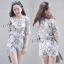 Sevy 3D Flora Lace Blouse With Shorts Sets thumbnail 6