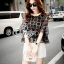 Sevy Two Pieces Of Bubble Chiffon Blouse With White Shorts Suit Sets thumbnail 1