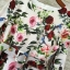 Korea Design By Lavida luxury red rose printed long sleeve dress thumbnail 7