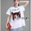 &#x1F380 Lady Ribbon's Made &#x1F380 Lady Elena Preppy Cutie Kitten Embroidered Cotton Dress thumbnail 1