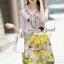 Seoul Secret Say's... Vintage Yellow Blossom Print Dress thumbnail 3