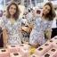 Sevy 3D Flora Lace Blouse With Shorts Sets thumbnail 2