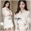 &#x1F380 Lady Ribbon's Made &#x1F380 Lady Leslie Classic Twist Studded White Lace Shirt Dress thumbnail 2