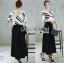 &#x1F380 Lady Ribbon's Made &#x1F380 Breton stripe & Kyros high waist pant with belt. thumbnail 2