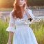 Seoul Secret Say's... V Lace Embroider Ivory Dress thumbnail 1