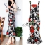 Sevy Forked Spade Flora Ribbon Shoulder Mini Dress thumbnail 2