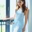 Sevy PP Blue Printed Sleeveless Sexy Back Maxi Dress thumbnail 2
