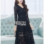 &#x1F380 Lady Ribbon's Made &#x1F380 Lady Amy Classic Black Lace Midi Dress thumbnail 1