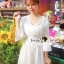 Seoul Secret Say's... V Lace Embroider Ivory Dress thumbnail 5