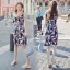 Sevy Printed Flora Hollow Shoulder Straps Sleeveless Mini Dress thumbnail 8