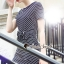 Seoul Secret Say's... Chic Lacely Rear Stripy Dress thumbnail 3