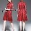 Cliona made'Red Sky 2 Tone Lace Luxury Dress - mini dress thumbnail 2