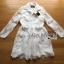 &#x1F380 Lady Ribbon's Made &#x1F380 Lady Leslie Classic Twist Studded White Lace Shirt Dress thumbnail 4