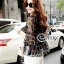 Sevy Two Pieces Of Bubble Chiffon Blouse With White Shorts Suit Sets thumbnail 6