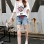 Seoul Secret Say's... Moschino Cami Chic Denim Shorts Set thumbnail 1