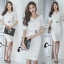 Cliona Made' Simplicity White + Fine Black Line Daily Dress thumbnail 3