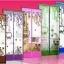 ม่านประตูกันยุงรุ่นพรีเมียม ไซส์ 100 สีน้ำตาล พิมพ์ลายปั่นรัก thumbnail 7