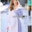 🎀 Lady Ribbon's Made 🎀 Lady Liz Two-Tone Off-Shoulder Cotton Shirt Dress thumbnail 5