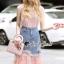 Seoul Secret Say's... Pinky Pleat Net Frienge Denim Skirt Lace Tops Set thumbnail 4
