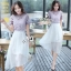 Sevy Two Pieces Of Hallow Flounce' Blouse With Chiffon Layer Skirt Sets thumbnail 5