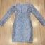 Cliona made'Imperial Soft Diamand Blue Luxury LAce Dress - Mini dress thumbnail 7