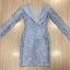 Cliona made'Imperial Soft Diamand Blue Luxury LAce Dress - Mini dress thumbnail 8