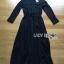 &#x1F380 Lady Ribbon's Made &#x1F380 Lady Elise Minimal Black Cotton Maxi Shirt Dress thumbnail 5