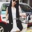 &#x1F380 Lady Ribbon's Made &#x1F380 Lady Alice Smart Casual Sleeveless Black Suit and Long White Shirt Set thumbnail 1