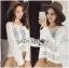 &#x1F380 Lady Ribbon's Made &#x1F380 Lady Elina Classic Vintage Crochet Lace Blouse thumbnail 3