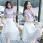 Sevy Two Pieces Of Hallow Flounce' Blouse With Chiffon Layer Skirt Sets thumbnail 2