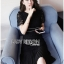&#x1F380 Lady Ribbon's Made &#x1F380 Lady Jessica Classy & Modern Black Lace Dress with Pleated Trim thumbnail 2