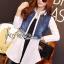 &#x1F380 Lady Ribbon's Made &#x1F380 Lady Gilda Sporty Chic White Poplin Cotton Shirt and Denim thumbnail 1