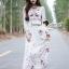 Seoul Secret Say's... Salmon Pink Blossom Summer Maxi Dress thumbnail 5