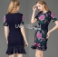 &#x1F380 Lady Ribbon's Made &#x1F380 Lady Daphne Colourful Flower Embroidered Ruffle Silk Dress thumbnail 2