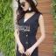 &#x1F380 Lady Ribbon's Made &#x1F380 Lady Margaret Minimal Chic Basic Jumpsuit with Choker thumbnail 4