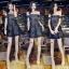 Cliona Made'Black Lace Sexy Shoulder Off Mini Dress - Mini Dress thumbnail 4