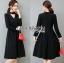 &#x1F380 Lady Ribbon's Made &#x1F380 Lady Lily Minimal Elegant Cut-Out Plain Black Dress thumbnail 4
