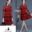 &#x1F36DKorea Design By Lavida high quality red lace luxury lady dress thumbnail 1