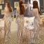 Sevy Elegant Golden Curve Line Gala Dress thumbnail 1