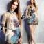 Clona made' Glow Luxury Floral Silk Dress - Mini dress thumbnail 4