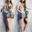 Clona made' Glow Luxury Floral Silk Dress - Mini dress thumbnail 2