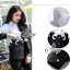 Sevy Butterfly See-Through Long Sleeve Black & White Shirt thumbnail 6