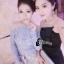 Cliona made'Imperial Soft Diamand Blue Luxury LAce Dress - Mini dress thumbnail 2
