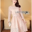 &#x1F380 Lady Ribbon's Made &#x1F380 Lady Aliza Classic Vintage Plain Lace Dress with Belt thumbnail 1