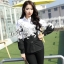 Sevy Butterfly See-Through Long Sleeve Black & White Shirt thumbnail 1